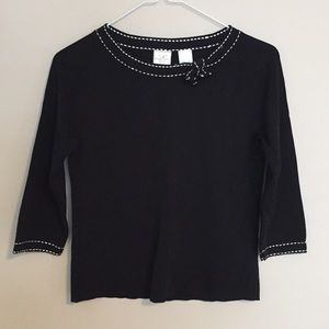 Emma James Cropped Knit Top